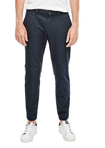 s.Oliver Herren 02.899.73.4668 Hose lang Anzughose, Dark Blue Melange, W(Herstellergröße: 46)