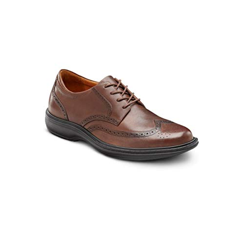 Dr. Comfort Wing Men's Therapeutic Diabetic Extra Depth Dress Shoe: Chestnut 6 Medium (B/D) Lace