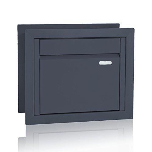 Briefkasten für Gabionenzaun, Entnahme hinten, Farbe: RAL 7016 (Anthrazit) (Art.Nr. 81)