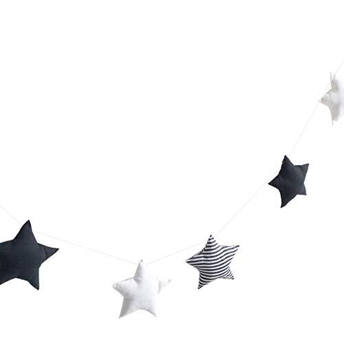 Desconocido Super1798 - Guirnalda de 5 Estrellas para Colgar en la Pared, de algodón, Ideal para decoración de habitación de niños