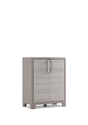Keter Armadio Basso Gulliver Xl con 2 Ripiani Regolabili, Beige, 80 x 44 x 100 cm