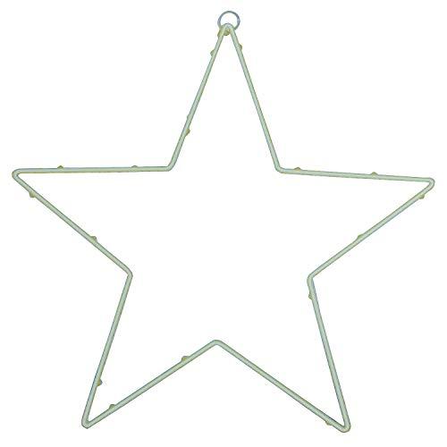 MACOSA EB400456 LED Weihnachtsstern Metall Ø 30 cm Timer batteriebetrieben Weihnachtsdeko Fenster-Dekoration Leuchtstern beleuchteter Stern Licht