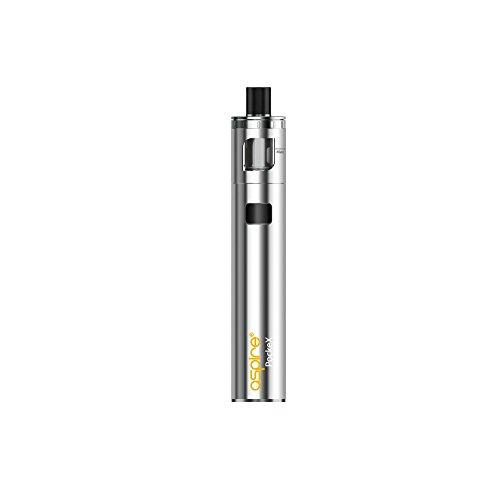 Cigarrillo electrónico, Aspire Pockex Motor de arranque Vape Kit, Pocket AIO Todo en uno, Flujo de aire superior, 2ml Jugo de e TPD Cumplimiento del tanque, No E Liquid, Libre de nicotina (acero inoxidable)