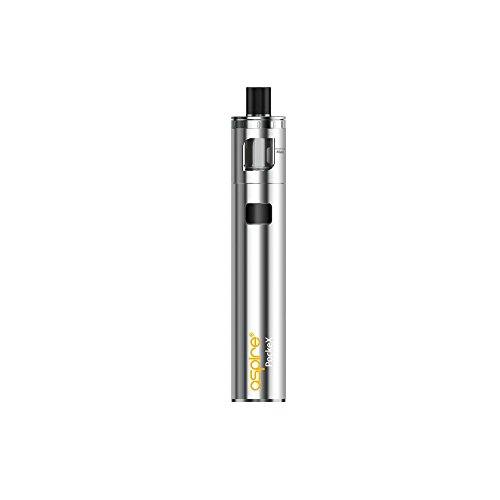 E-Zigarette, Aspire Pockex Starter Vape Kit, Pocket AIO All in One ,Top Airflow, 2ml E-Saft TPD Gefälliger Behälter, Keine E Flüssigkeit, Nikotinfrei (rostfreier Stahl)