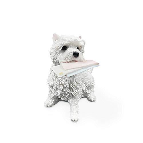BEAUTYLE West Highland White Terrier Sitzposition Beißen Umschlag Haustier Hund Simulation 3 Zoll Craft Home Decoration Zubehör