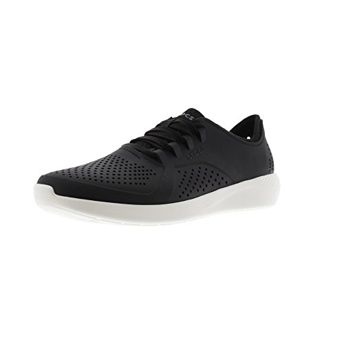 Crocs LiteRide Pacer M, Zapatillas Hombre, Negro (Black/White 066b), 42/43 EU