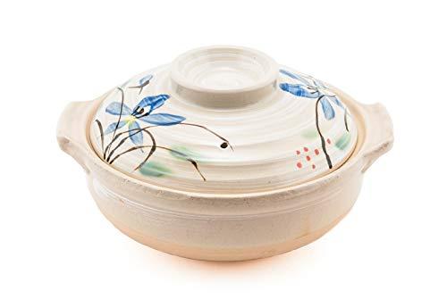 Japanische donabe Hot Pot Kasserolle aus Keramik 72oz Steingut Tontopf dient 3–4Personen Made in Japan
