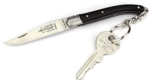 Arbalete G. David - 8 cm Laguiole Schlüsselanhänger Taschenmesser - Ebenholz - Frankreich Messer Schlüsselbund