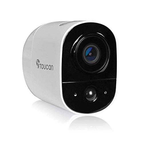 TOUCAN Rechargeable Battery-Powered Wireless Outdoor Security Camera with Alexa Support (1 Camera) Bullet Cameras