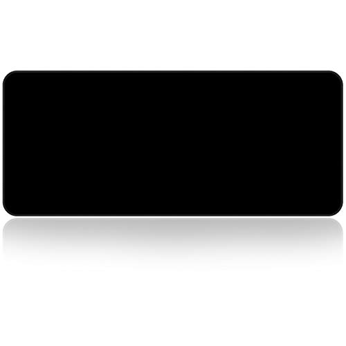 Large Gaming Mouse Pad with Nonslip Base|Extended XXL Size, Heavy|Thick, Comfy, Foldable Mat for Desktop, Laptop, Keyboard, Consoles & More|Enjoy Precise (Black)