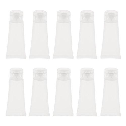 CUTICATE 20pcs Tubes De Crème Vides Transparents Maquillage Lotion Conteneur Bouteille