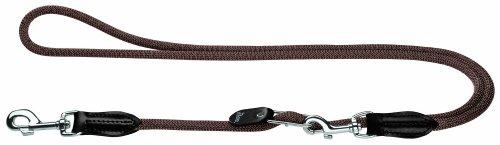 HUNTER Freestyle Vario-Leine, verstellbare Führleine für Hunde, robust, wetterfest, 1,0/200 cm, braun