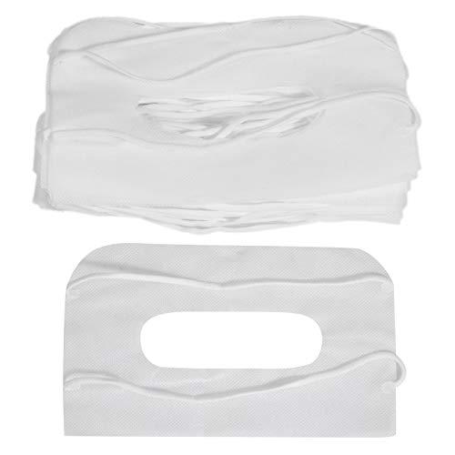 Woorea 100pcs Cubierta Universal para los Ojos,Protección para el Hogar, Higiene, Sudor Absorbente, Máscara de Ojos,Accesorios de Almohadilla para los Ojos VR