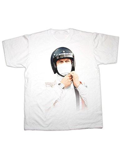 Hotfuel T-Shirt McQueen, Le-Mans-Rennen, alle Größen, 100% Baumwolle Gr. One Size, weiß