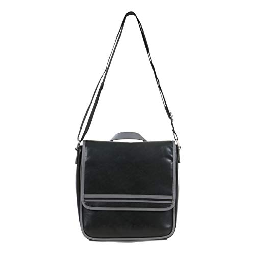 Ben Sherman Faux Leather Travel, Work, School Bag, Black, 15