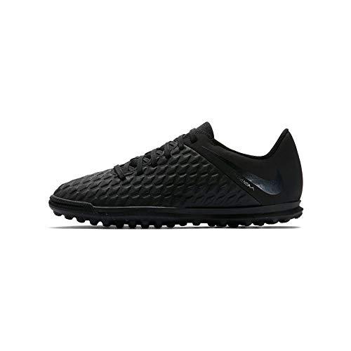 Nike JR Hypervenom 3 Club TF, Zapatillas de fútbol Sala Unisex niño, Negro (Black/Black 001), 33 EU