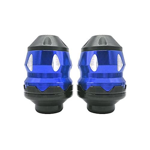 KKOYYRZ Protector de la Rueda de la Moto Protector de Scooter Marco Deslizador de carenado Guardia Moto Falling Protección Motocicleta Crash Pad/Fit para Yamaha/Fit for Suzuki (Color : 3 Blue)