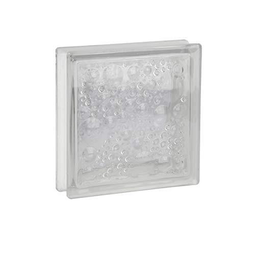 Fuchs Design 8 Stück Glassteine Savona Klar glänzend 19x19x5 cm