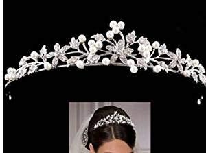 HESHIFENG. party & accessories Braut Strass Diadem Perlen Krone Haarband Haarschmuck für Hochzeit (Style 1)