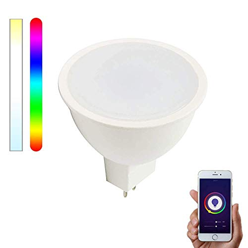 Bombilla Inteligente WiFi GU5.3/MR16 LED 12V RGBW compatible con Alexa, Google Home y Smart Life, Multicolor Regulable 5W – Smartfy (1)