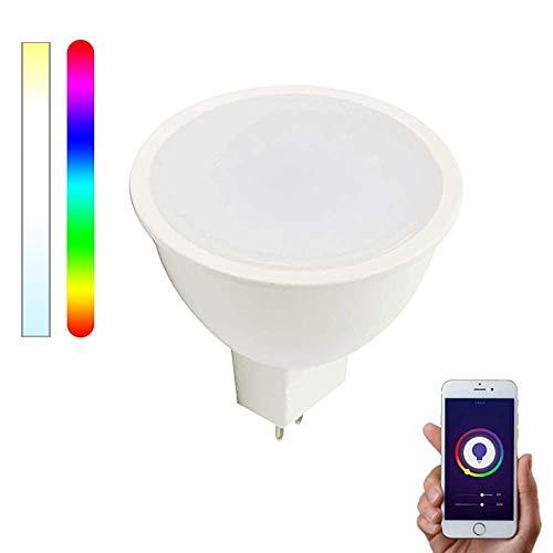 Smartfy WiFi GU5.3/MR16 LED 12 V RGBW kompatibel mit Alexa, Google Home und Smart Life, mehrfarbig, dimmbar 5 W – Smartfy