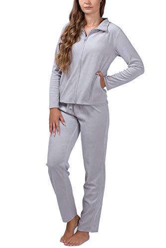 SLOUCHER Nicki-Anzug für Damen, Farbe:grau, Größe:L