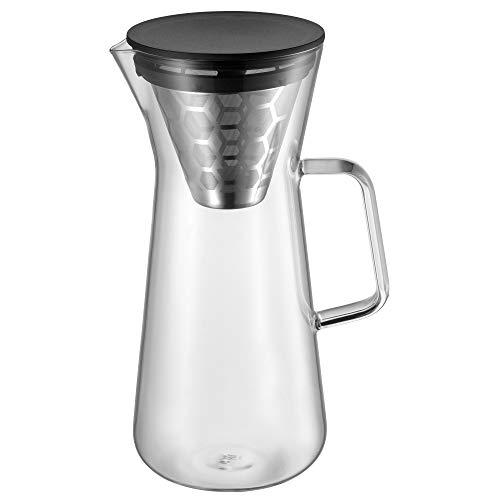 WMF CoffeeTime Pour Over Kaffeezubereiter 900ml, für 6 Tassen, Aromawaben-Filter, Jug, Höhe 27 cm, hitzebeständiges Glas, Kaffeekanne