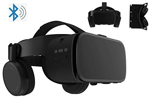 3D Virtual Reality Headset With Wireless Remote Bluetooth, 3D VR Glasses Compatible for Android iOS iPhone 12 11 Pro Max Mini X R S 8 7 Samsung 4.7-6.2' Cellphone ,for TV,Movies & Video Games IMAX.