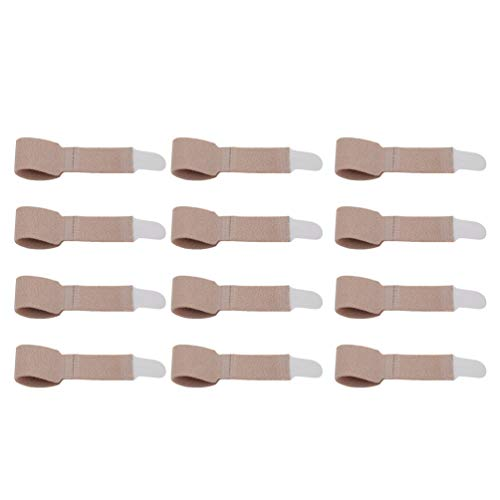 Heallily 12 piezas soporte para férulas con soporte para dedos envolturas para dedos separador de dedos para artritis dedo herido roto martillo dedo del pie s