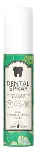 Adema Animal Nuovo Dental Spray – per cani e cuccioli, gatti e gattini, pulizia dentale/dentifricio, placca e tartaro rimuove l'alito della bocca, 100 ml