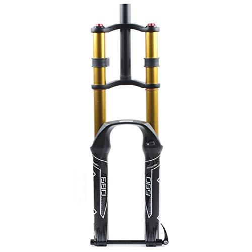 VTDOUQ DH Horquilla de suspensión de Bicicleta 26/27.5/29'Air MTB Doble Hombro Descenso Descenso Amortiguador Amortiguador Freno de Disco Am/FR suspensión Recorrido 130 mm