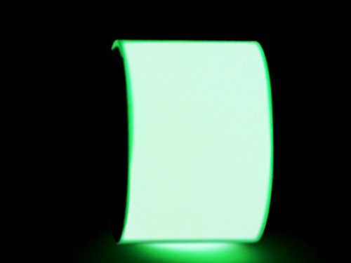 WOD GDT24 Photoluminescent Glow in The Dark Tape, Green - 4 inch x 10 yds. - Ideal for Labeling Safety Signs and Emergency Exits
