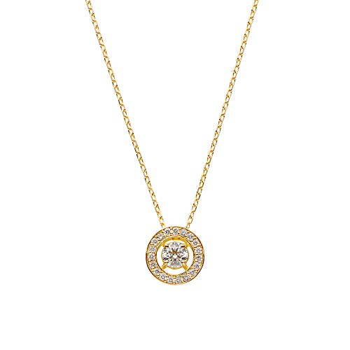 [ヴァンドーム青山] VENDOME AOYAMA K18YG ダイヤモンド 0.16ct ヴァンクリストー ネックレス 品質保証カード付 AGVN647743DI