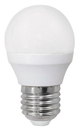 Bombilla LED esférica 6W (equivalente a 40W) Luz calida (3000K) no dimmable. E27. 470 Lm. 25000 horas de vida. Encendido...