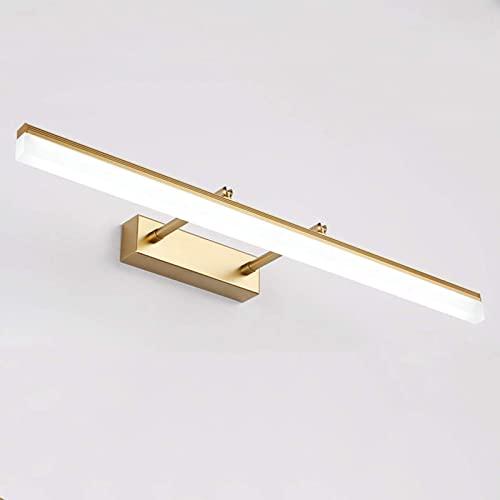 Modernas luces de tocador de baño LED 40cm / 50cm / 60cm / 70cm / 80cm / 90cm Ajustable sobre espejo Accesorios de iluminación de...