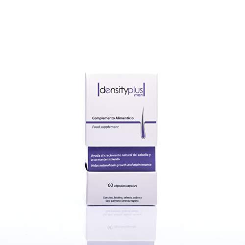 Densityplus, Suplemento capilar que potencia el crecimiento del cabello, lo fortalece y previene su caída. Saw Palmetto, Biotina, Zinc, Cobre, etc. 60 cápsulas.