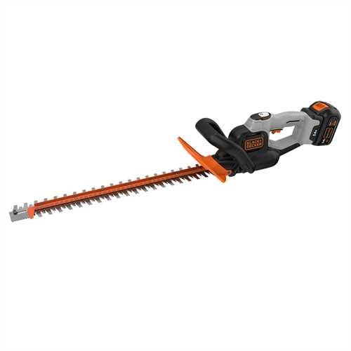 BLACK+DECKER GTC5455PC-GB 54 V DUALVOLT Hedge Trimmer with 1.5 A Battery and 2 A Charger - Black/Red