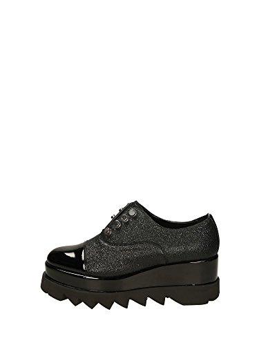 Cult scarpa donna zeppa CLE103222 alice low laminato e vernice nero nr.40