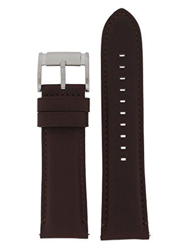 Fossil Uhrband Wechselarmband LB-FS4865 Original Ersatzband FS 4865 Uhrenarmband Leder 24 mm Braun