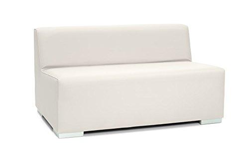 Sinergia Contract Sofa 3 Plaza Ibiza. Modular tapizado para Exterior en Polipiel náutica Blanca.