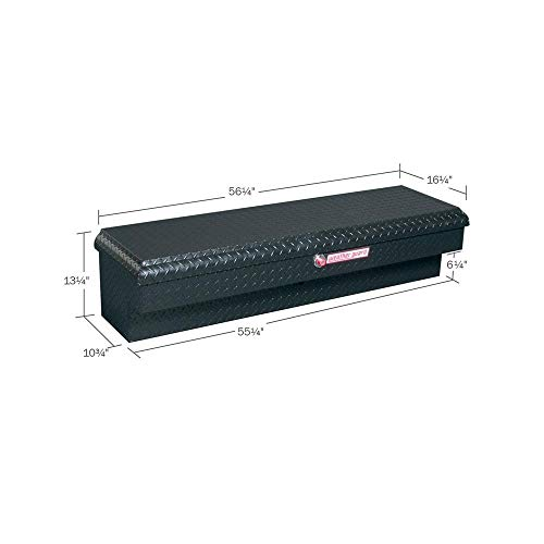 Weather Guard 174501 4.1Cubic Feet Lo-Side Black Aluminum Tool Box