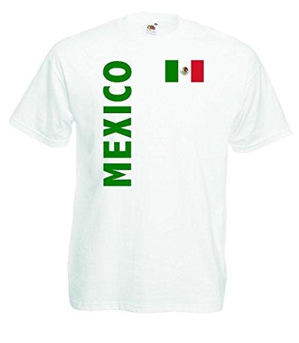 World-of-Shirt Mexico Herren T-Shirt Fan Trikot WM 2014|w-m