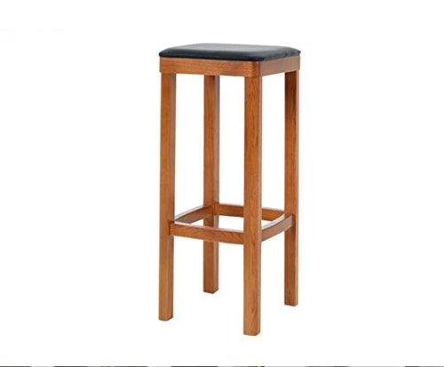 Tabouret en bois Continental minimaliste bar chaises bar chaises/solide bois bar tabouret/bois couleur + PU chaise surface (Couleur : #1)