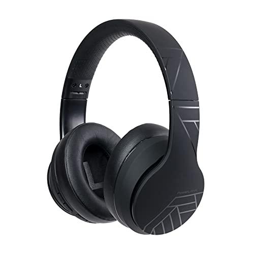 PowerLocus Auriculares Inalámbricos Diadema, Cascos Bluetooth con Micrófono Incorporado, Hi-Fi Sonido Estéreo Super Bass Audifonos Cerrados Inalámbrico y con Cable para iPhone/Samsung/Móviles/iPad/PC
