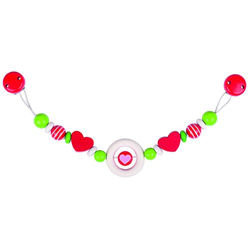 Heimess Coeur Chaîne de Poussette avec Hochet Multicolore