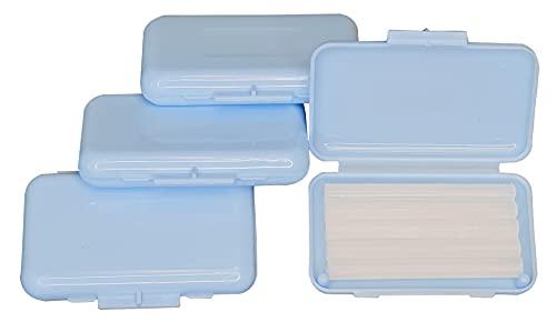 Zahnspangen Wachs 4er Box 4x5 Stangen mit Geschmack – hochwertiges Wachs für Zahnspangenträger - Zahnwachs Schutzwachs – Geschmack Minze