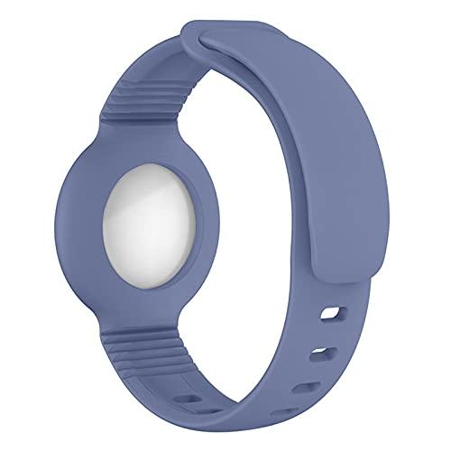 Airtag Watch Strap Cover protettiva Cover protettiva Tracker posizione staffa con cinturino in silicone, adatto per neonati, animali domestici, bambini, anziani (cenere d erba)