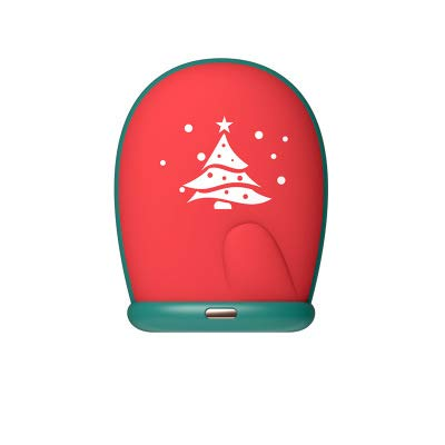 AUED Chaufferettes, Chaud à la Main Rechargeable 5000mAh USB Mini Portable à Double Usage Chaud à la Main d'hiver Gants Petits Warmers pour l'anniversaire Cadeau de Noël,Rouge,8000