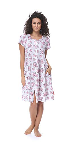 DN, Nachthemd, TCB.9613, Sweet.pink, Gr. M/Umstandsnachthemd/Stillnachthemd/Nachthemd für Schwangere, Baumwolle