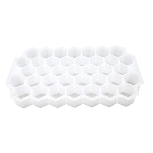 37 cubos bandeja de hielo cubo molde creativo DIY forma de panal de hielo cubo de hielo rayo molde helado fiesta bebida fría bar herramientas blanco